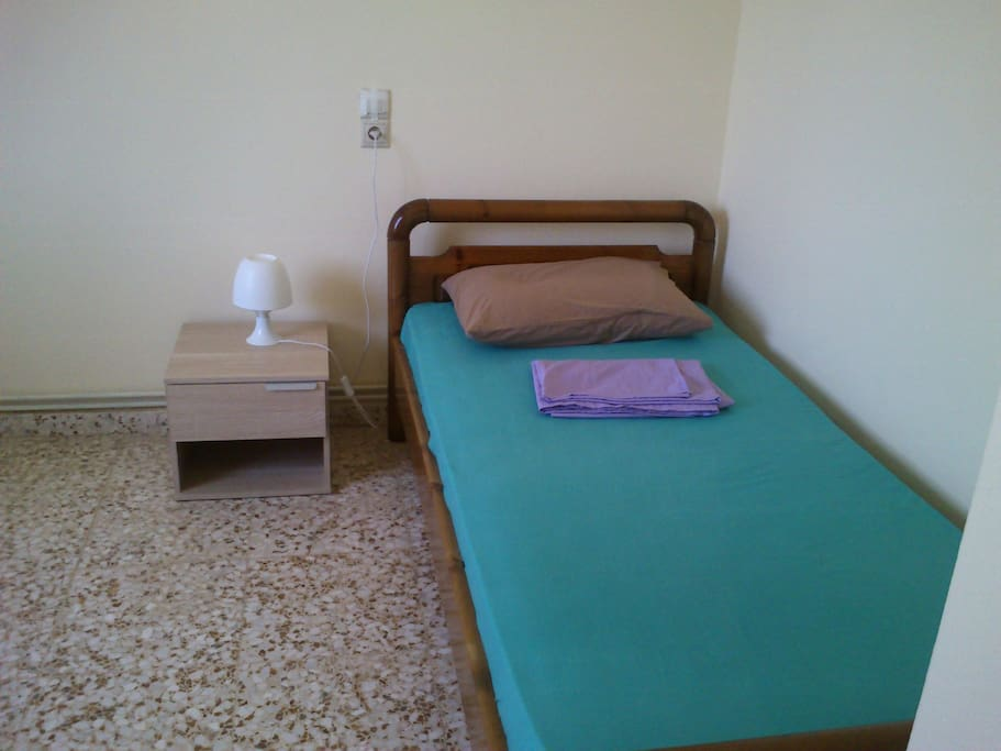 single bed at second bedroom