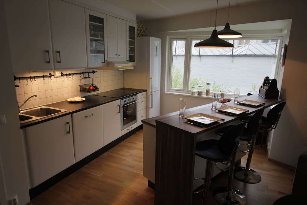 Good space in the kitchen