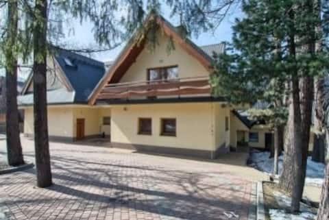 Atostogoms nuomojami butai Zakopane center giewont view