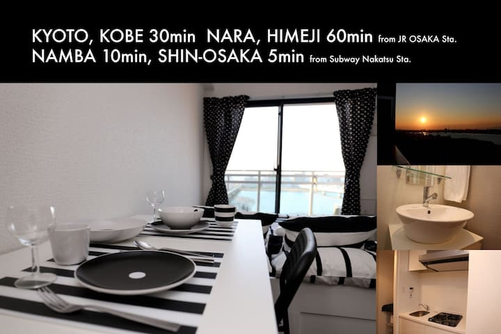 Osaka Designers Room Riverside near Umeda Namba - Ōsaka-shi - Wohnung