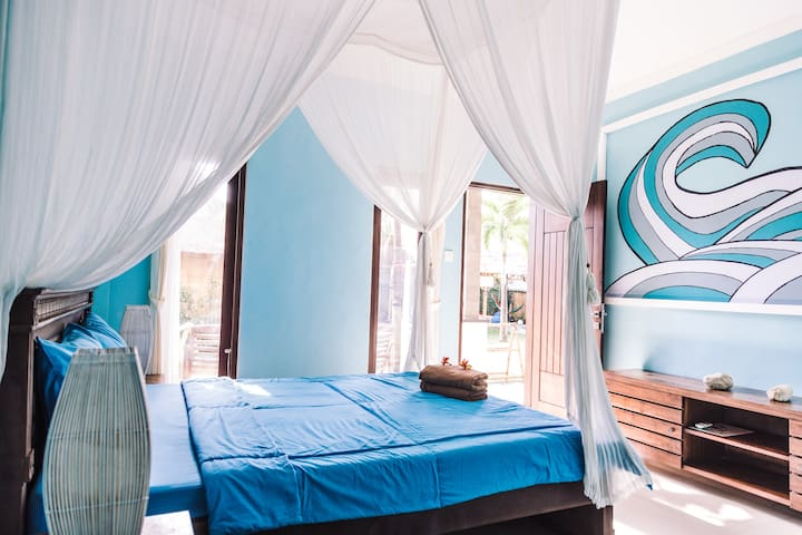 Riviera House:  Surf room with AC in Canggu