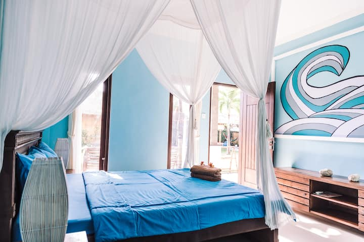 Riviera House - Surf room with AC in Canggu