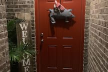Southern charm red door home
