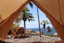 vue d'une tente