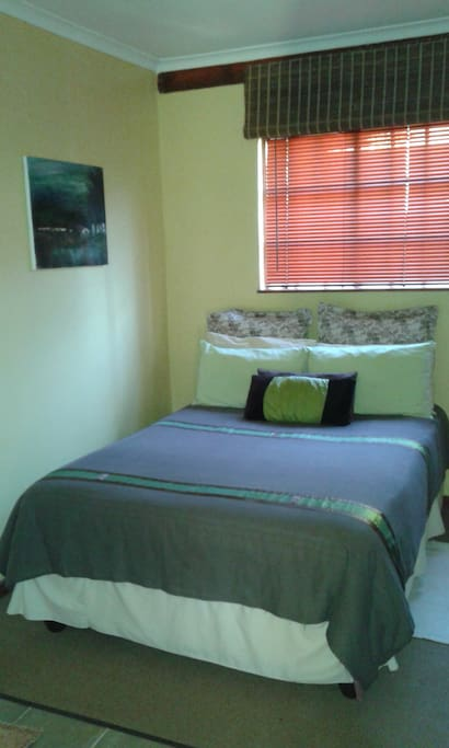 Comfortable double bed with fresh linen and extra blankets