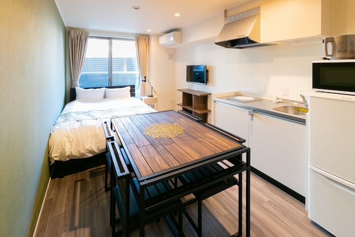【Minn Kamata】Standard Double ★ 6 PAX / Non-smoking / JR Kamata Station 5-min walk / Kitchen / Free-WiFi