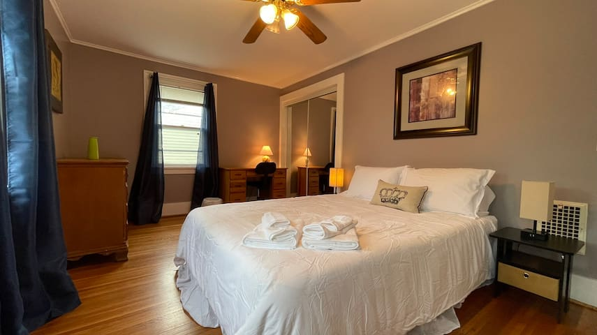 Master Bedroom with Queen bed and a work desk