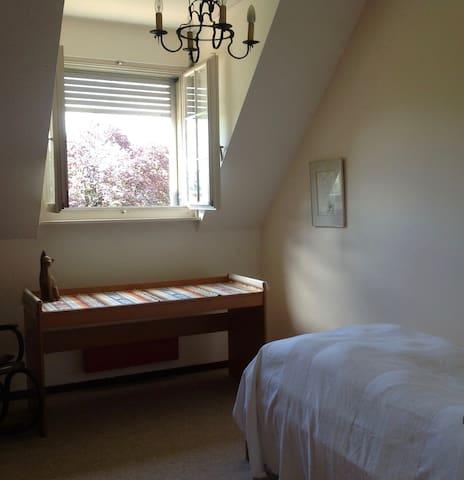 Bright, airy, single room 10 min from Geneva away - Coppet - House