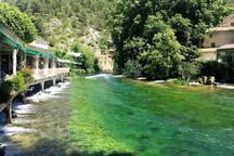 Fontaine de Vaucluse ( 6 kms)