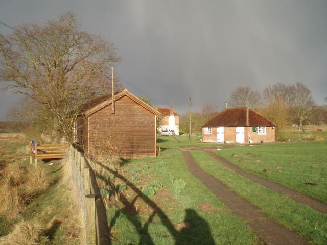 Cabin, Converted Stables and House
