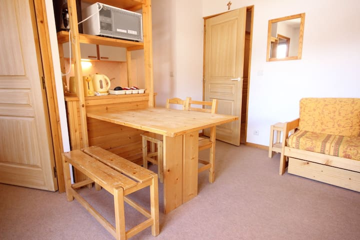 Nice 3 rooms apartment in Vallandry close to the pistes