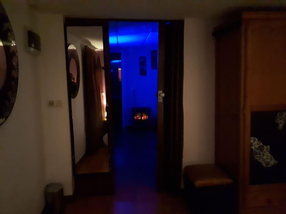 visión desde el dormitorio hasta la sala