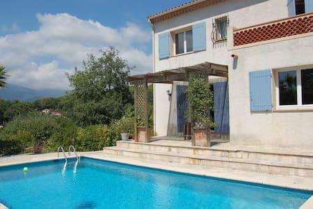 Chambre Privée dans villa, piscine, jardin, centre - Roquefort-les-Pins - 別墅