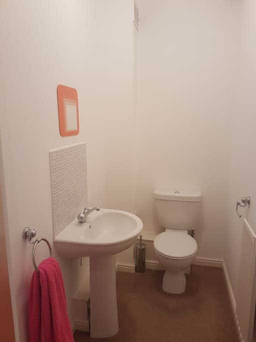 Private toilet next to the bedroom