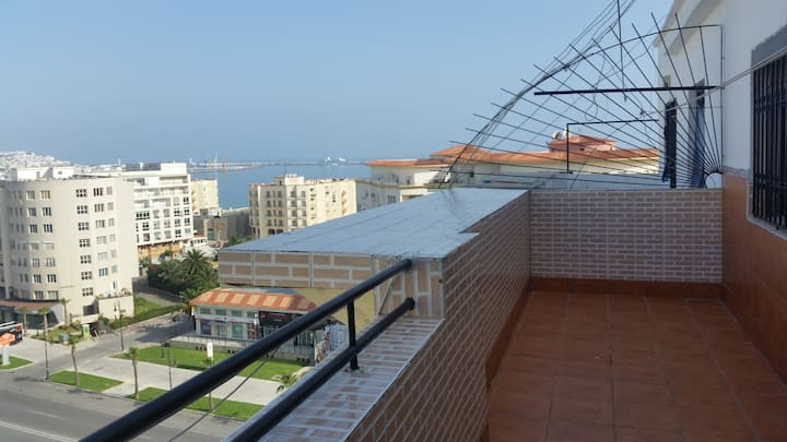apartment tanger duplex penthouse with sea view