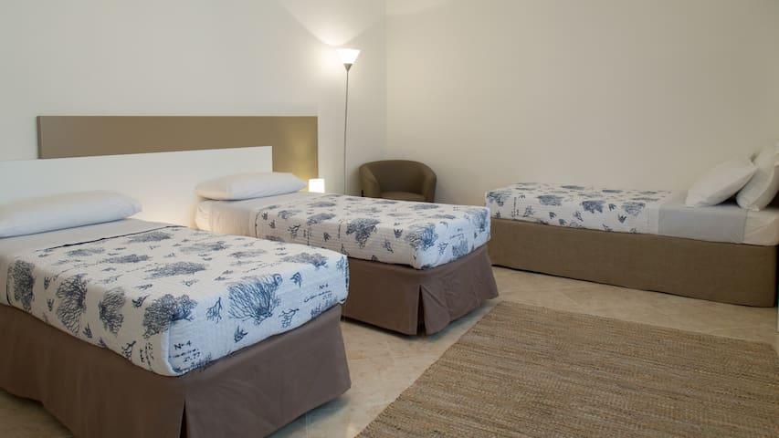 Camera da letto 2 Tripla o Matrimoniale + 1 letto