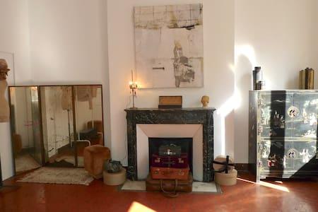 Chambre privée,22 m2 dans appartement d'artistes