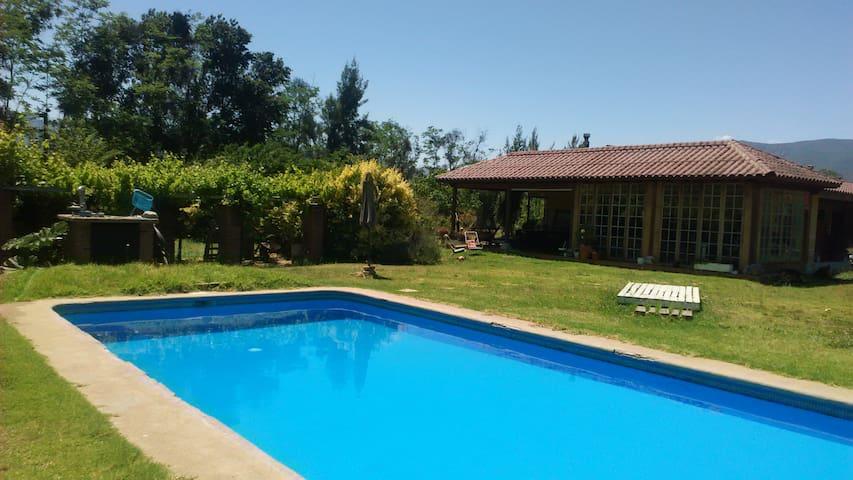 olmue-limache, casa y jardin grande, piscina - Olmué