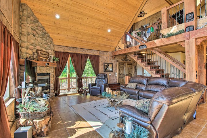 NEW! Spacious Fish Haven Cabin w/Game Room + Deck!