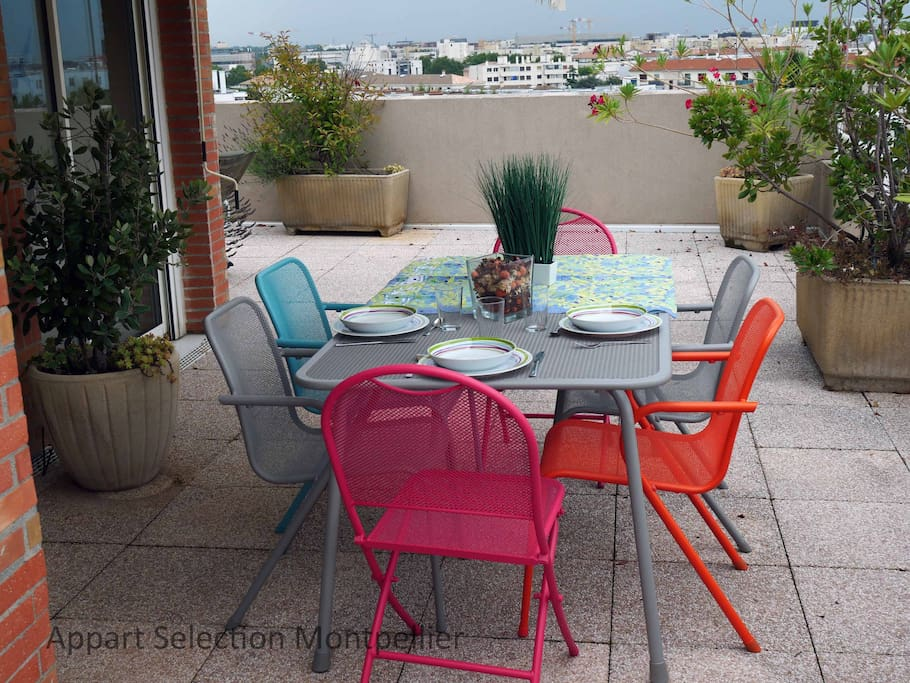 La terrasse du Magestic by Appart Selection Montpellier