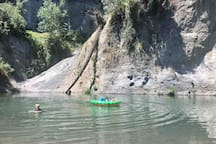 Epic swimming hole near the backyard of the Redwood River Cottage