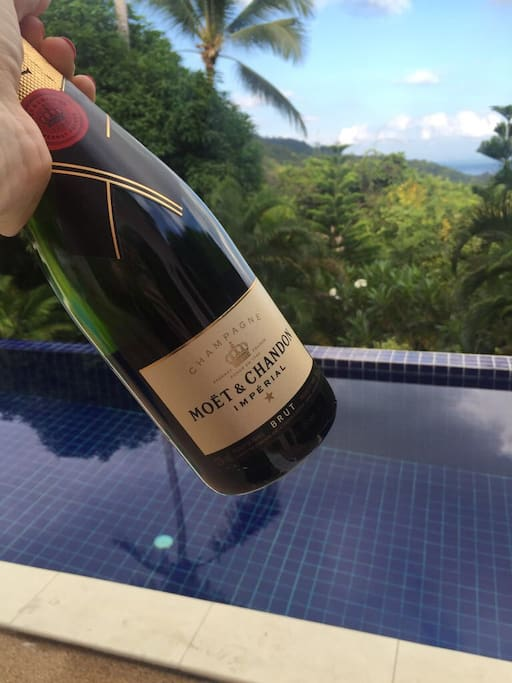 Chilled champagne by the pool...