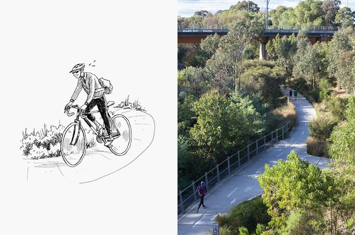 Bike Riders Heaven - Merri Creek trail