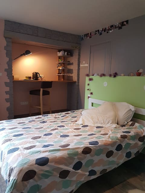 Grande chambre privative, 25 km au sud de Rennes