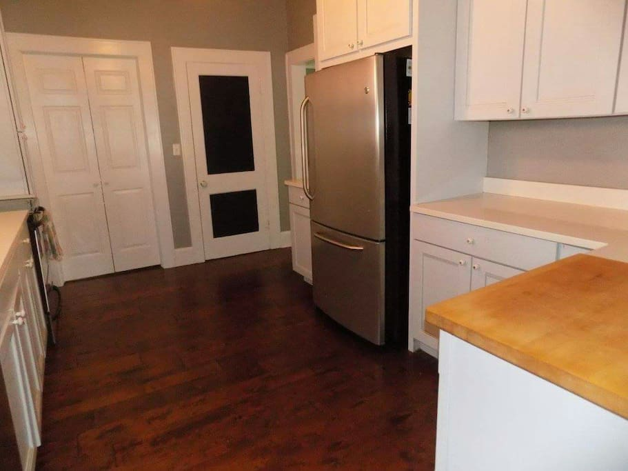 Walk in pantry and laundry room