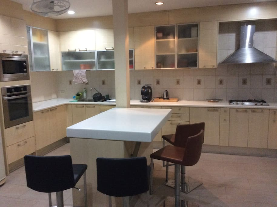 Large kitchen if you need to cook.