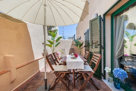 super sunny apartment + terrace barcelona central