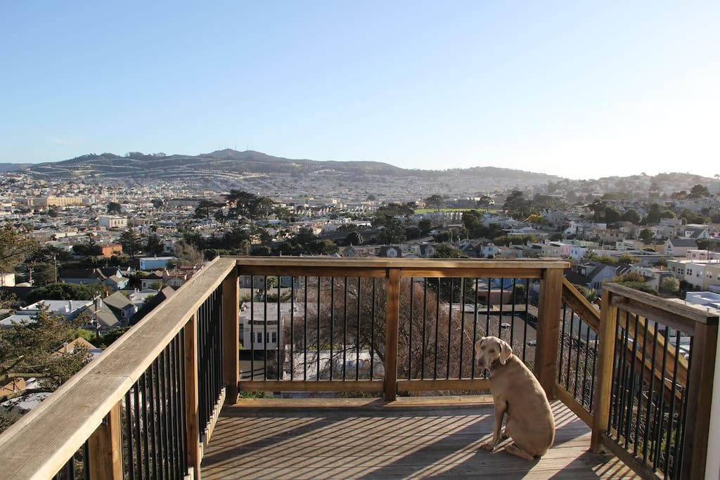 Deck and view - dog not included (though you can ask her to visit)
