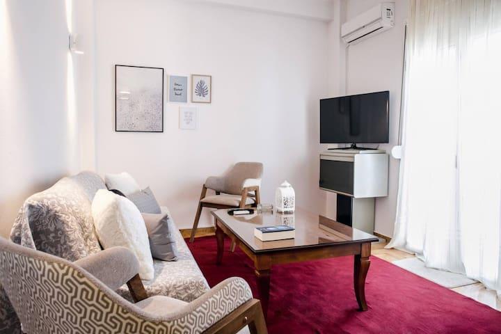 Athens meets Plato's Academy in sunny cozy apartme