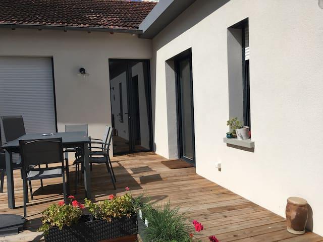Chambre salle-d'eau- WC privés jardin des plantes