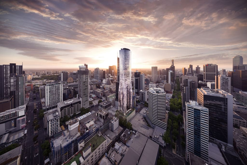 The brand-spanking new, 65-storey Eq. Tower in Melbourne's CBD was only finished last month but has already won an award for best architecture in an Australian residential highrise at the Asia Pacific International Property Awards held on 26 May 2017.