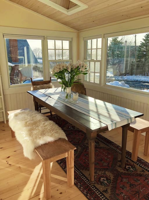 Front dining room and sun room.