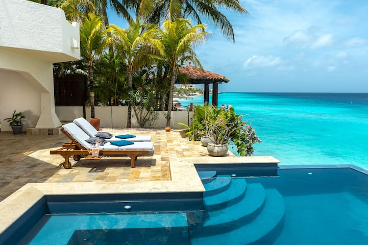 Nirvana Lodge, a huge villa directly on the sea, with infinity pool and sun terraces