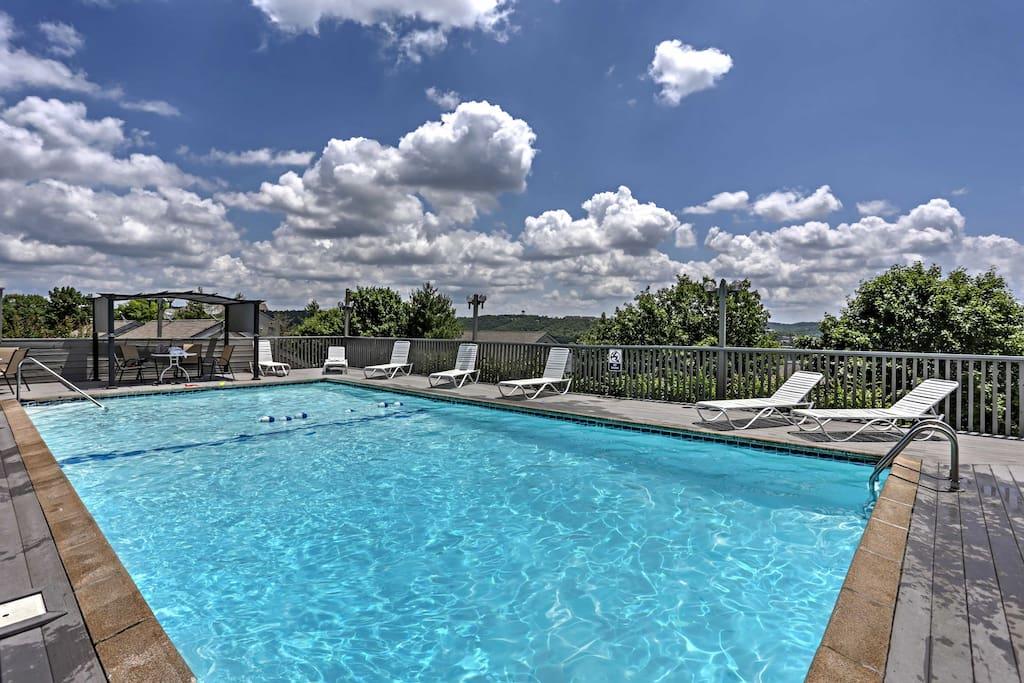 Summer days are perfectly enjoyed around the refreshing community pool.