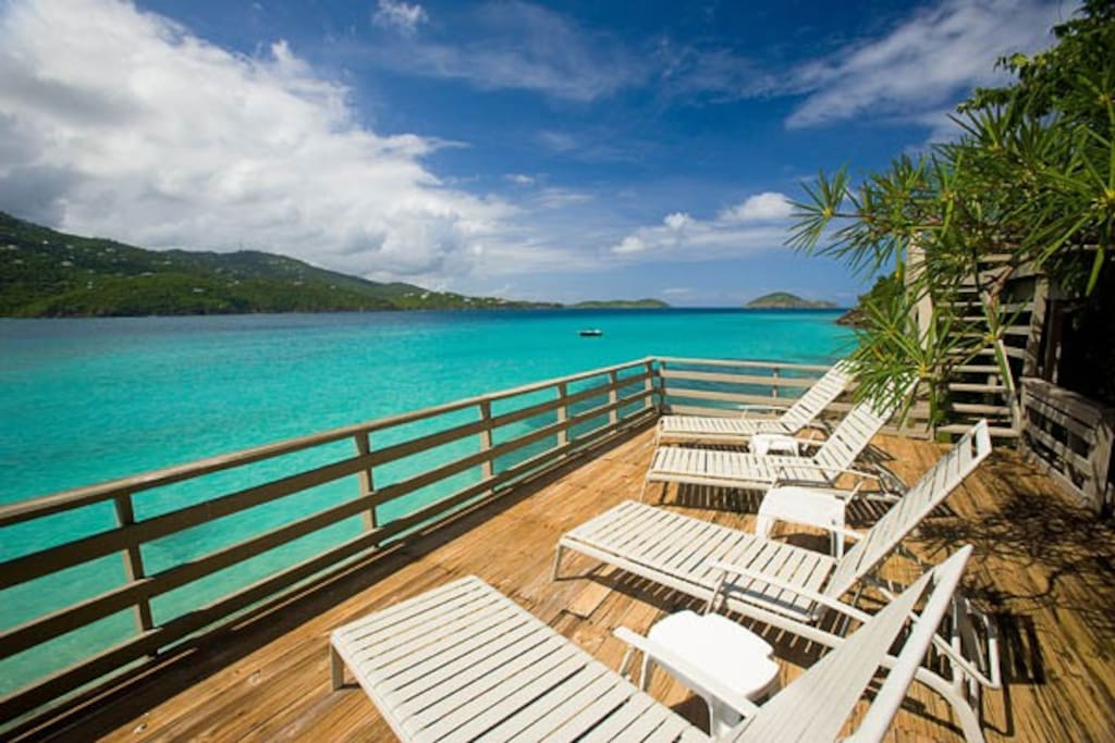 Deck on Magens bay