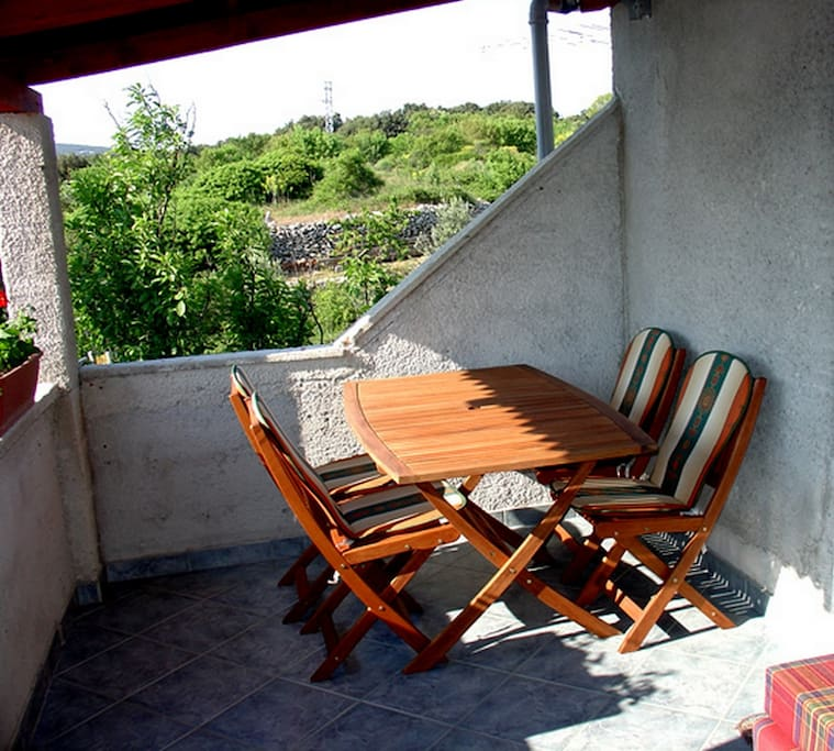 Lovely furnished balcony with a view