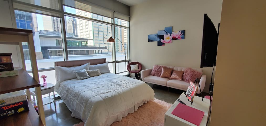 sexy and accessible downtown Dallas skyrise apt.