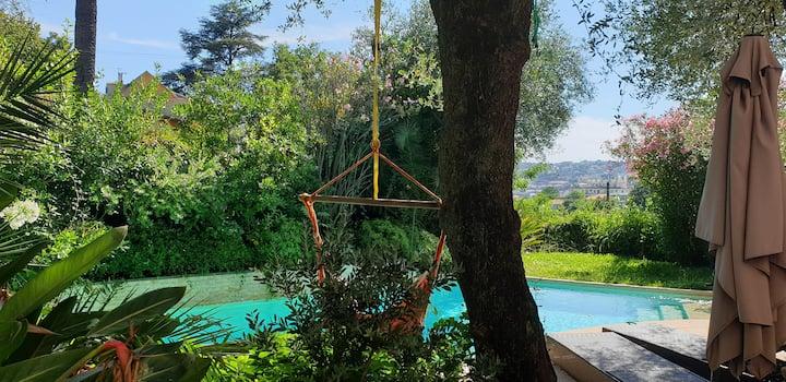 Villa de Charme Nice Piscine et Jardin privatif