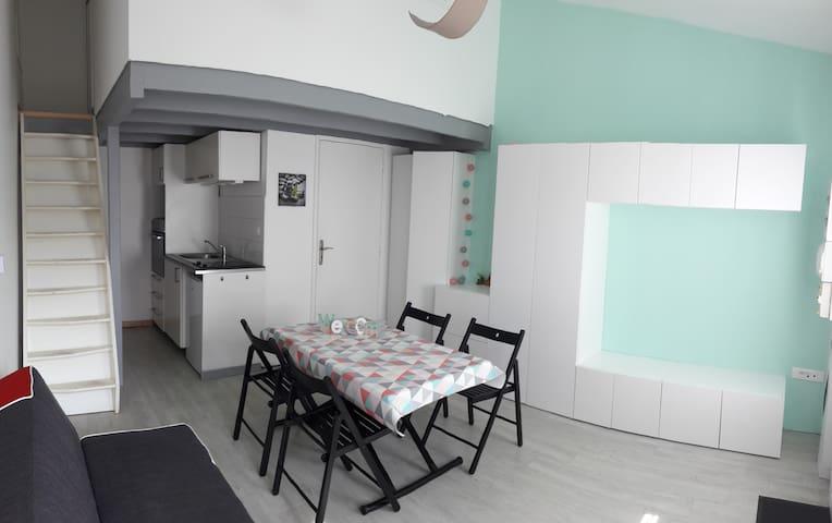 Appartement calme et lumineux à 300m de la plage