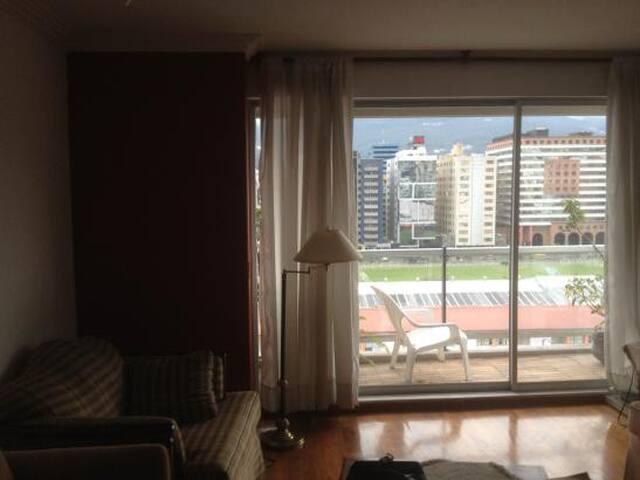 Sala con balcón