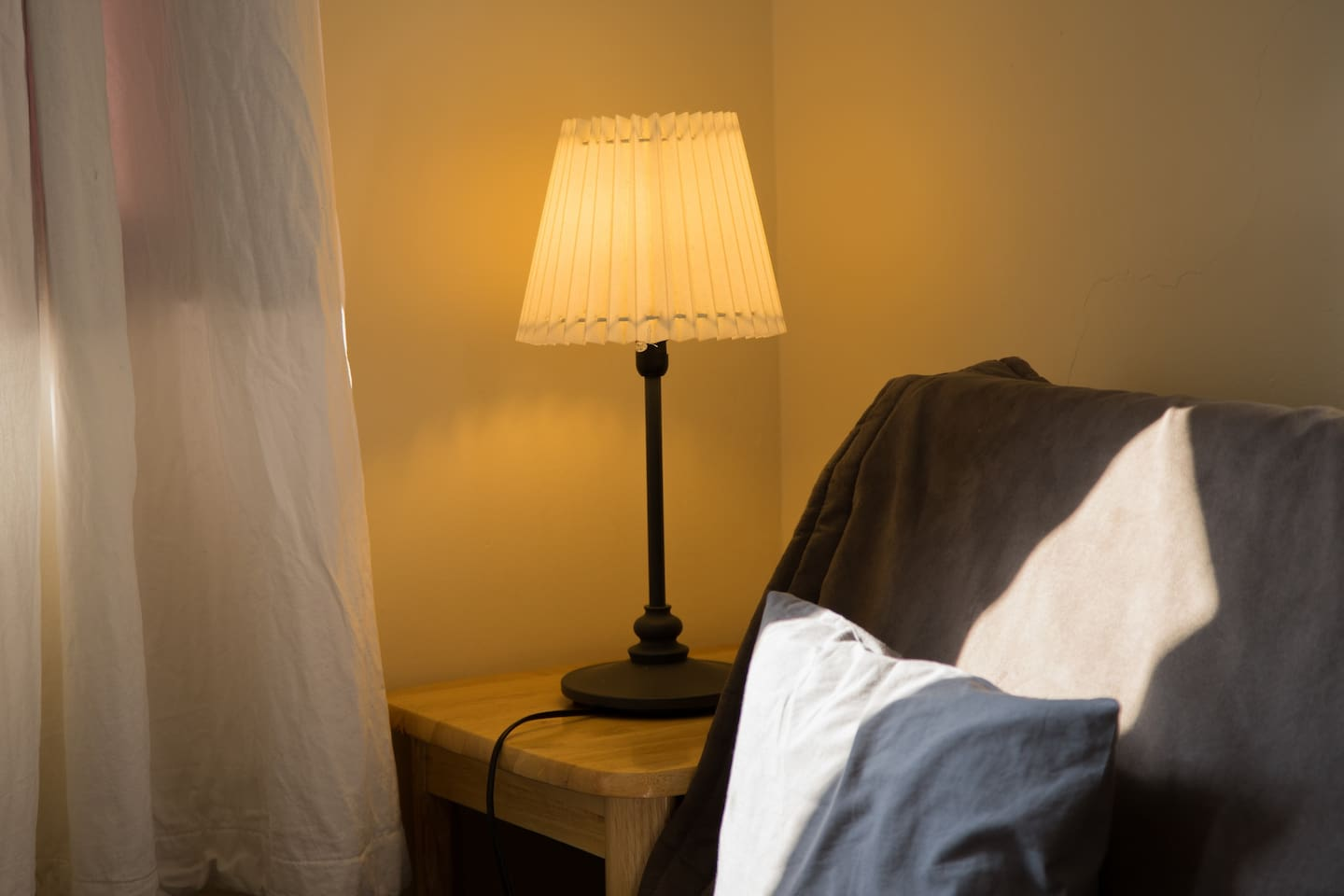 sofa and table light in your room