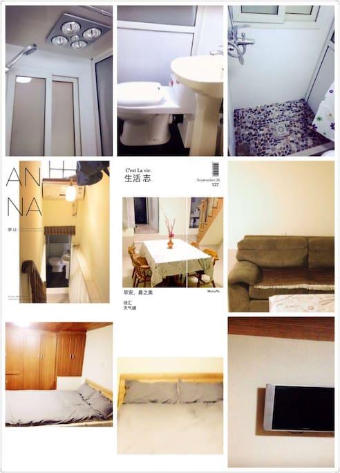 法租界的里弄,具有本地特色,进门有院子,院子里有佛像,也种植了些植物。屋内分两层,一楼为餐厅客厅,二楼为卧房,有独立的洗手间和厨房,洗衣机也具备,交通更是便利,南京西路有2、12、13号线。