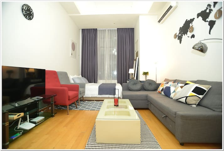 Gangnam/Seocho★New duplex apartment넓은복층구조 6인★ 최고전망
