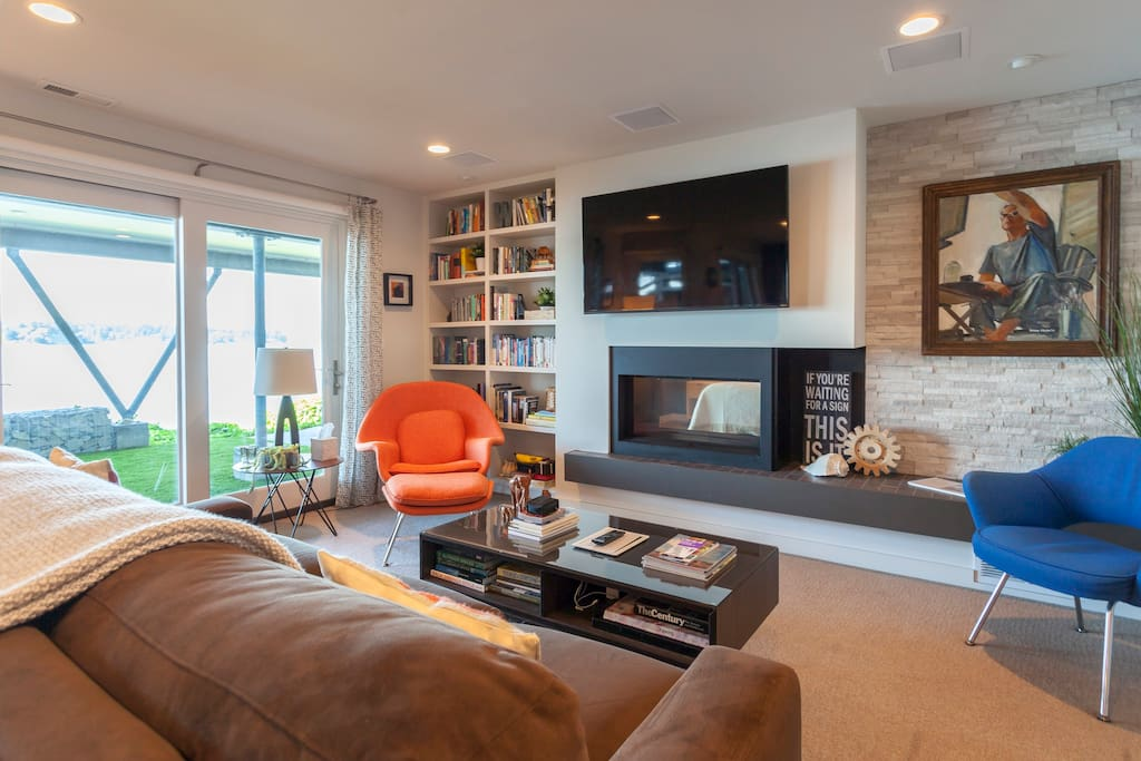 A well-designed, comfortable living space offers entertainment options inside and out.