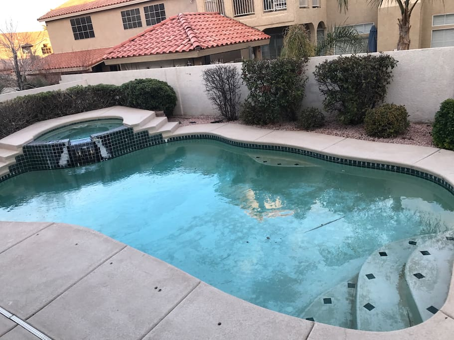 Pool and hot tub, available for use.  Pool will be cold during the Winter.  Hot tub available Year-round