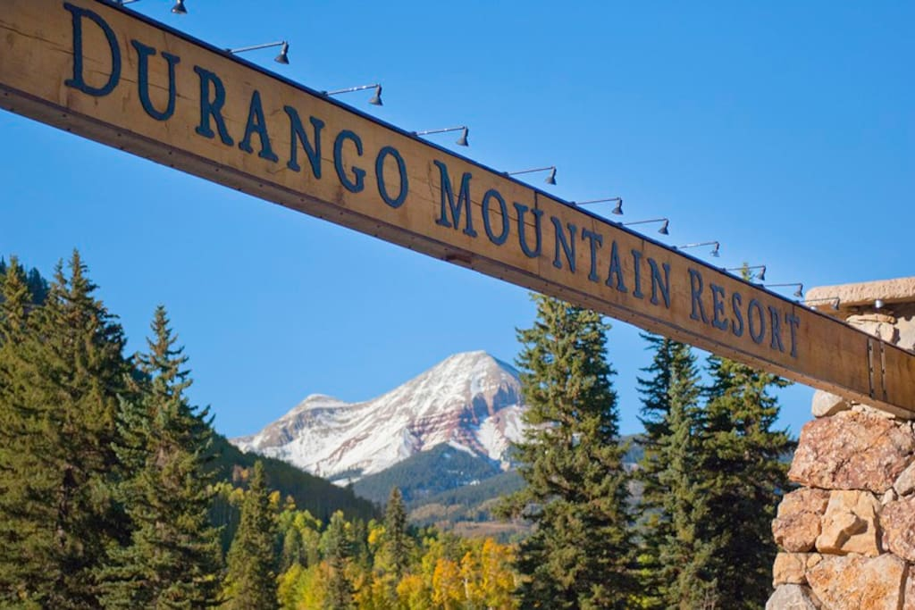 Entry to Purgatory Ski Resort Durango Colorado
